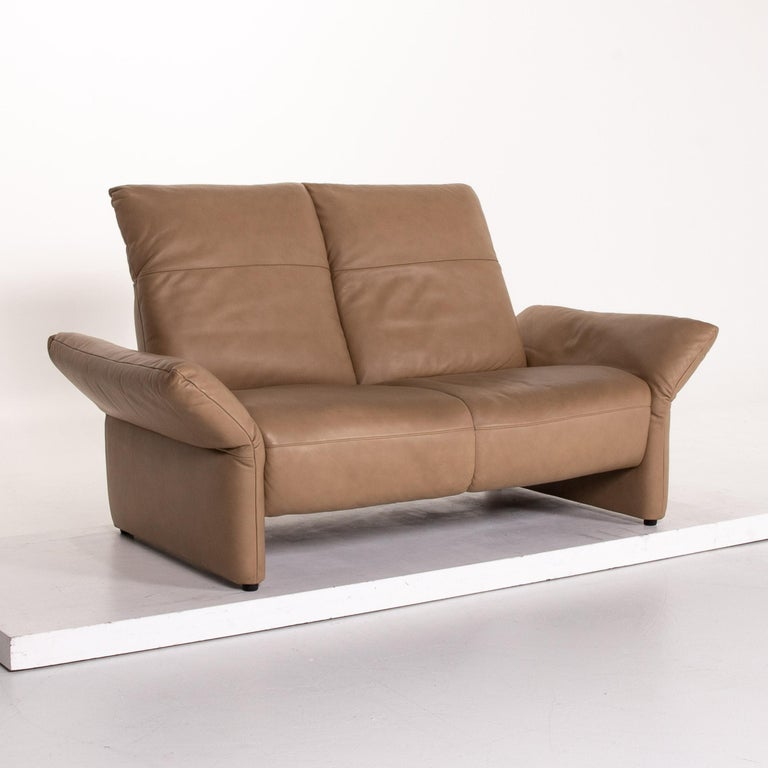 Koinor Elena Leather Sofa Brown Two-Seat Function Couch For Sale 3