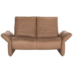 Koinor Elena Leather Sofa Brown Two-Seat Function Couch