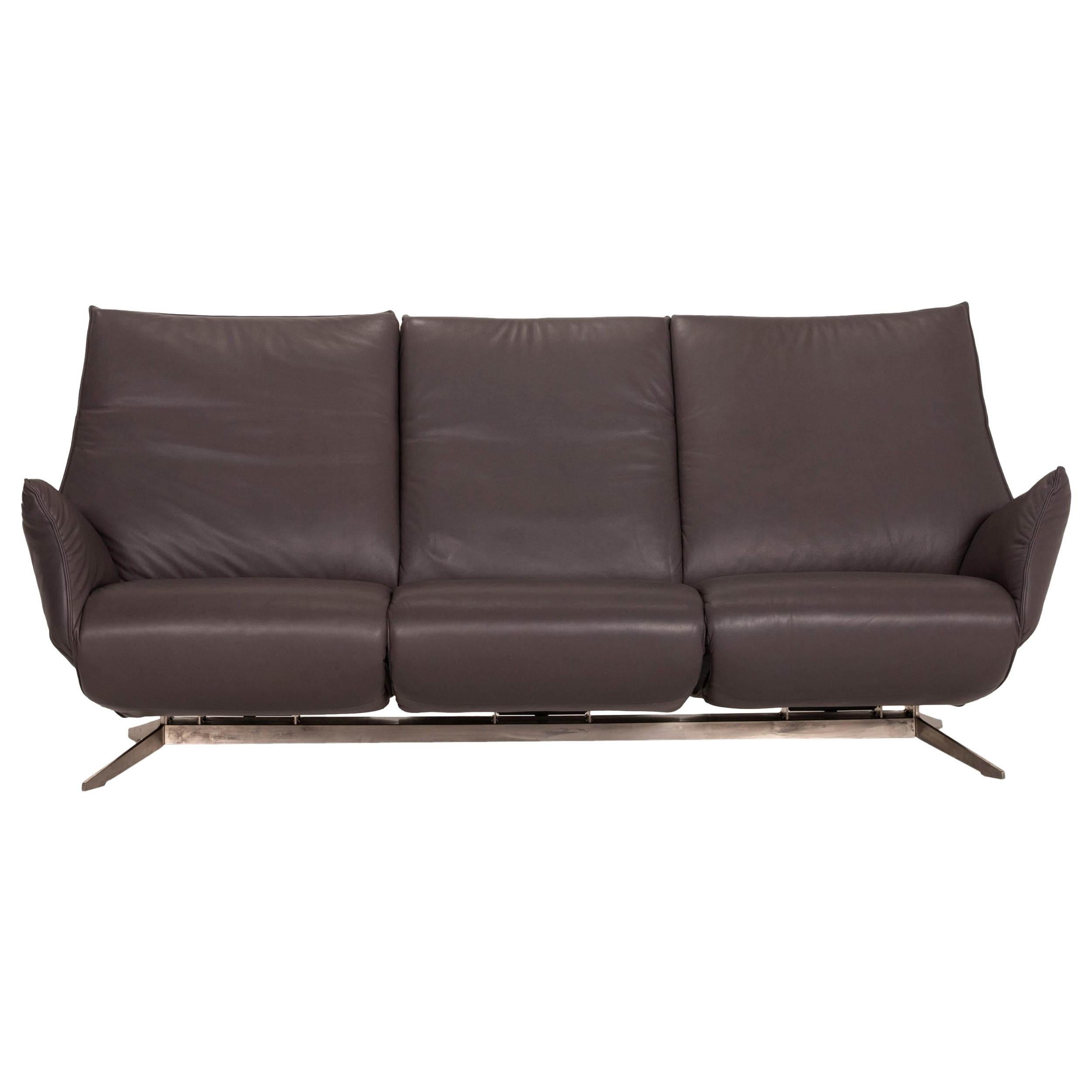 Koinor Evita Gray Three Seater Leather