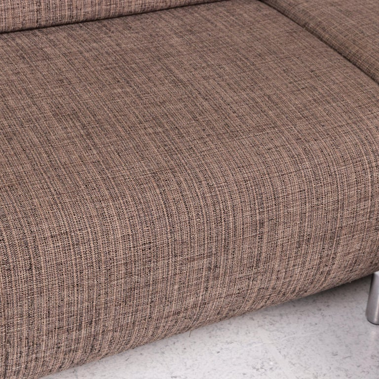 German Koinor Fabric Corner Sofa Brown Sofa Function Couch For Sale