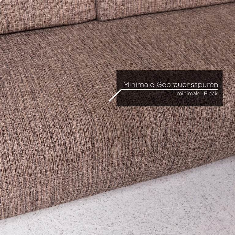 Koinor Fabric Corner Sofa Brown Sofa Function Couch In Good Condition For Sale In Cologne, DE