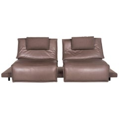 Koinor Free Motion Edit Leather Sofa Gray Two-Seat Function Relax Function