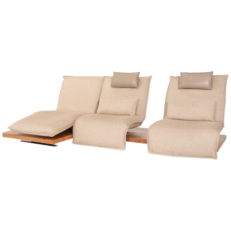 Koinor Free Motion Epos 2 Fabric Corner Sofa Beige Function Relax Function Sofa
