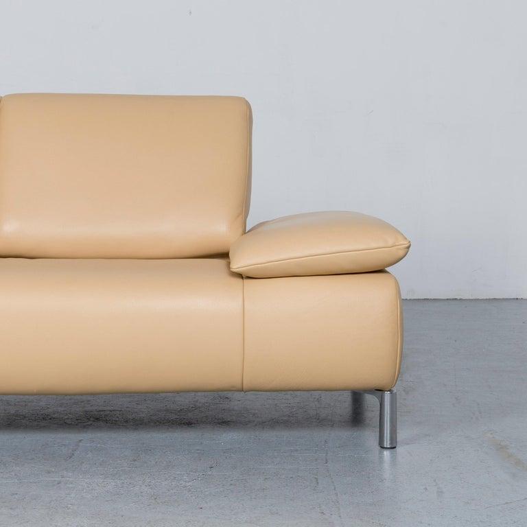 Koinor Goya Designer Leather Sofa Creme Beige Three-Seat Couch 1