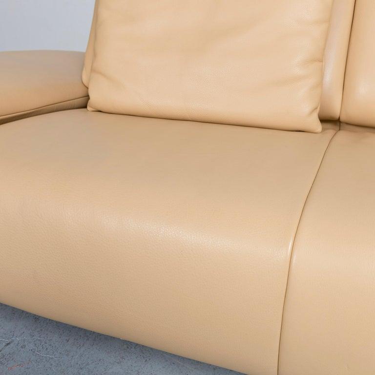 Koinor Goya Designer Leather Sofa Creme Beige Three-Seat Couch 2