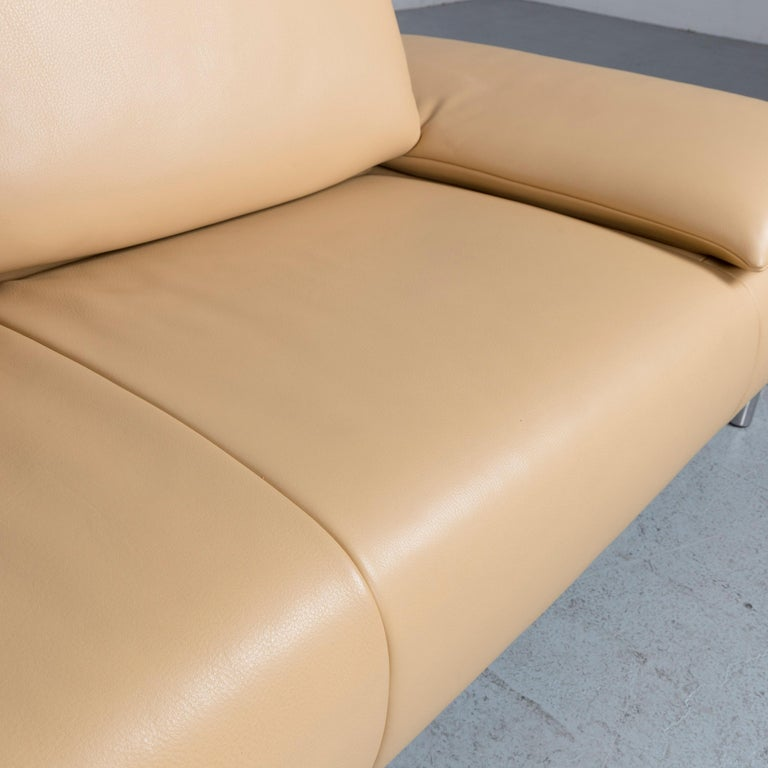 Koinor Goya Designer Leather Sofa Creme Beige Three-Seat Couch 3
