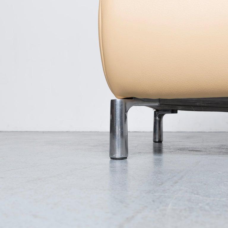 Koinor Goya Designer Leather Sofa Creme Beige Three-Seat Couch 4