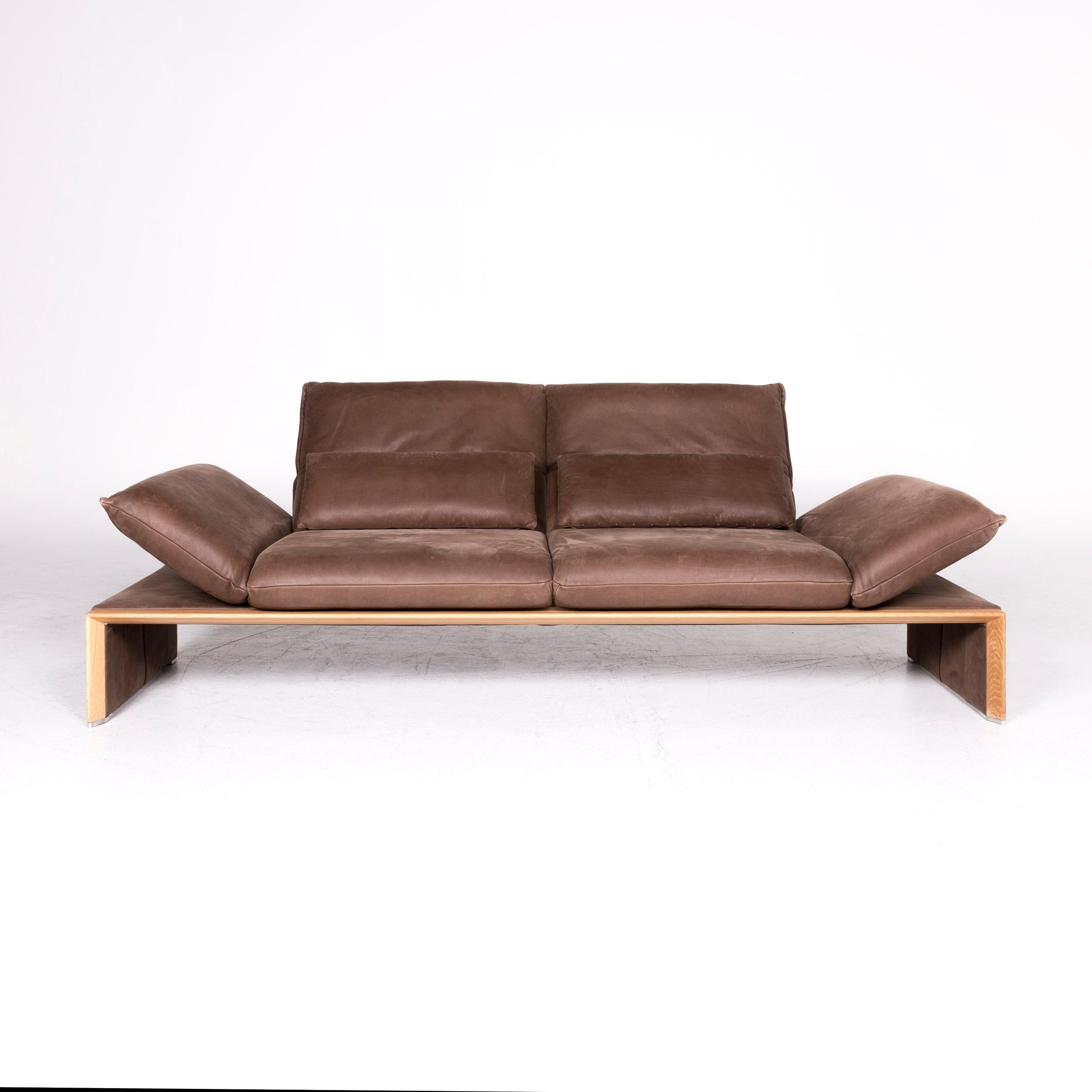 Koinor Houston Designer Leather Sofa Brown Two-Seat Couch For Sale ...