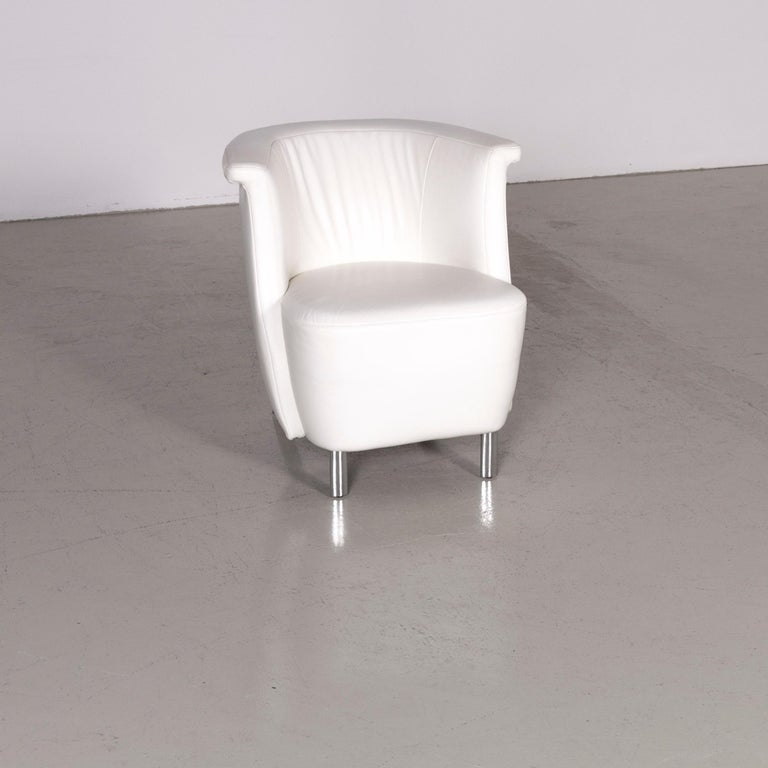 German Koinor Infinity V Designer Leather Armchair Set White