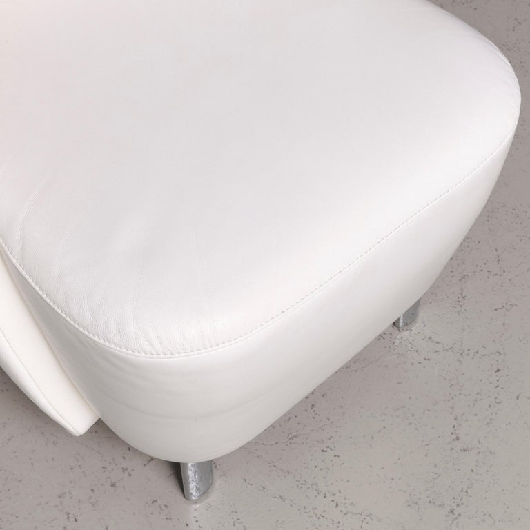 Contemporary Koinor Infinity V Designer Leather Armchair Set White