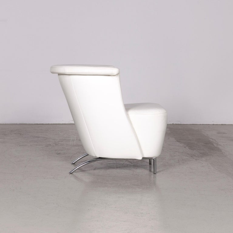 Koinor Infinity V Designer Leather Armchair Set White 2