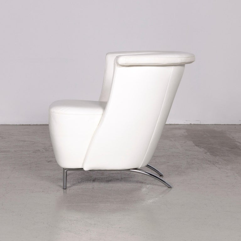 Koinor Infinity V Designer Leather Armchair Set White 4