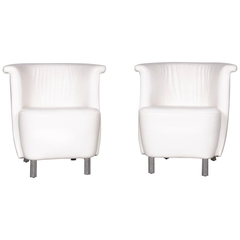 Koinor Infinity V Designer Leather Armchair Set White