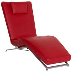 Koinor Jeremiah Leather Lounger Red Relax Function Function