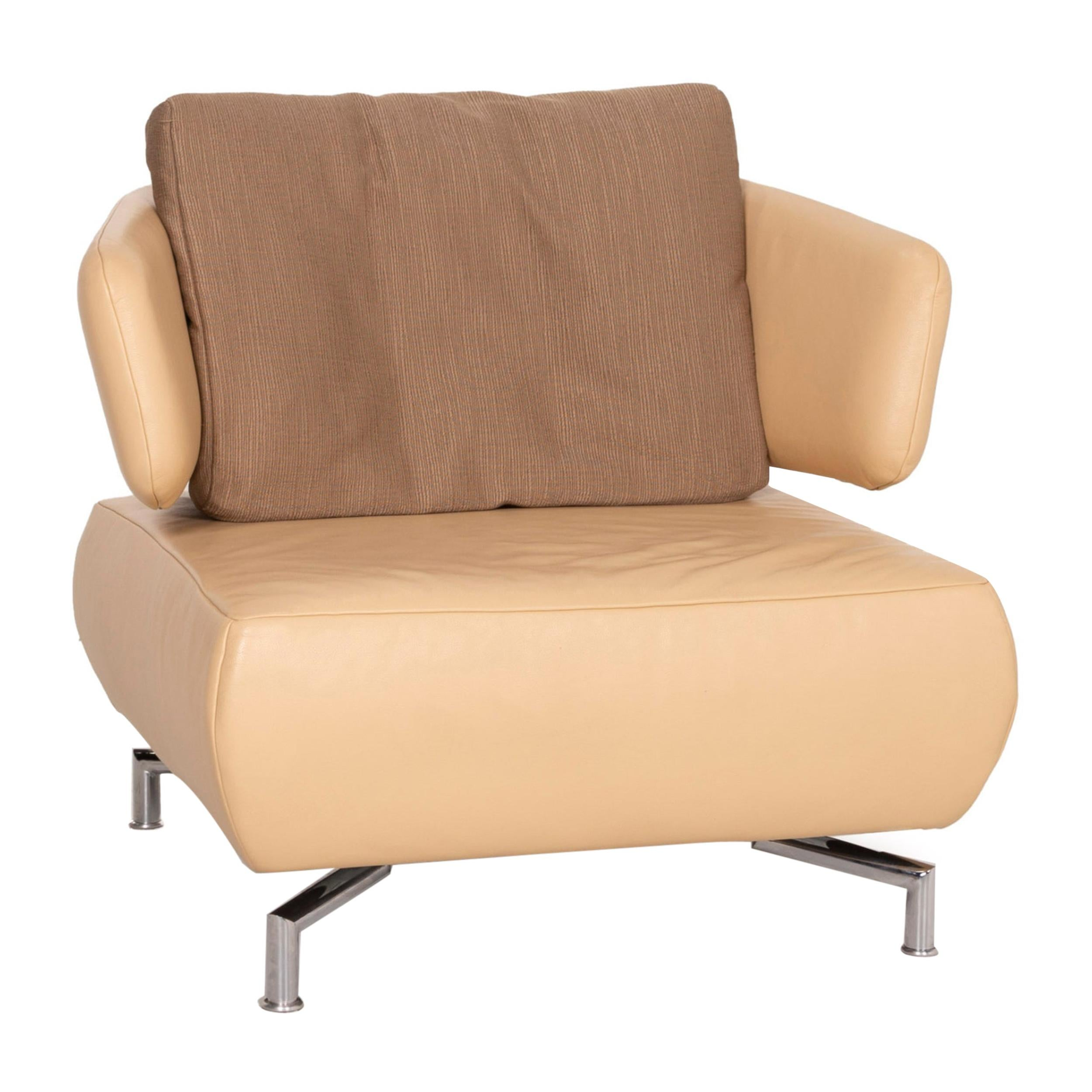 Koinor Leather Armchair in Beige Fabric
