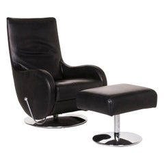 Koinor Leather Armchair Includes Black Stool Relax Function