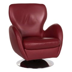 Koinor Leather Armchair Red