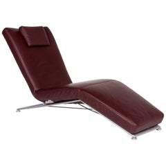 Koinor Leather Lounger Bordeaux Brown Red Relax Lounger Function Relaxing