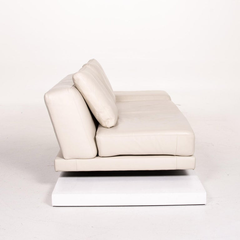Koinor Leather Sofa Cream Three-Seat Function Couch 4