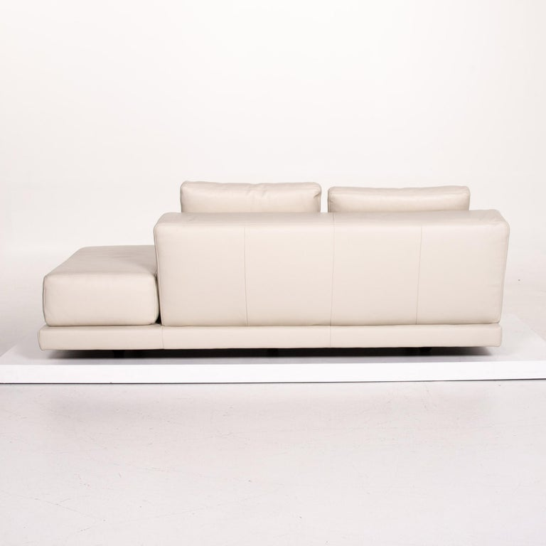 Koinor Leather Sofa Cream Three-Seat Function Couch 5