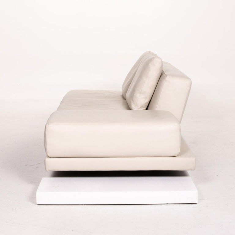 Koinor Leather Sofa Cream Three-Seat Function Couch 6