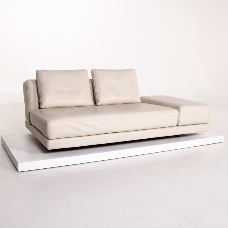 Koinor Leather Sofa Cream Three-Seat Function Couch 2
