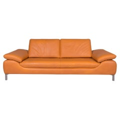 Koinor Leather Sofa Orange Three-Seat