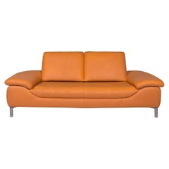 Koinor Leather Sofa Orange Two-seat