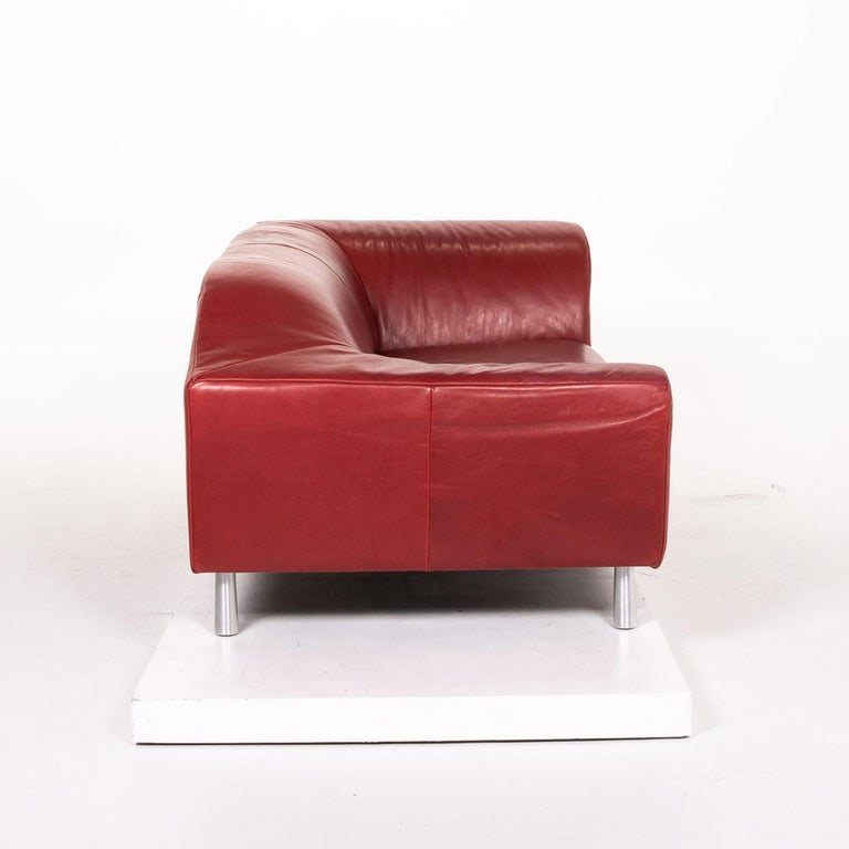 Koinor Leather Sofa Red Two-Seat Couch 4