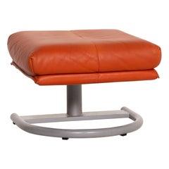 Koinor Leather Stool Orange Terracotta Ottoman