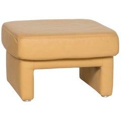 Koinor Leather Stool Yellow