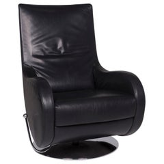 Koinor Loft Leather Armchair Black Include Function