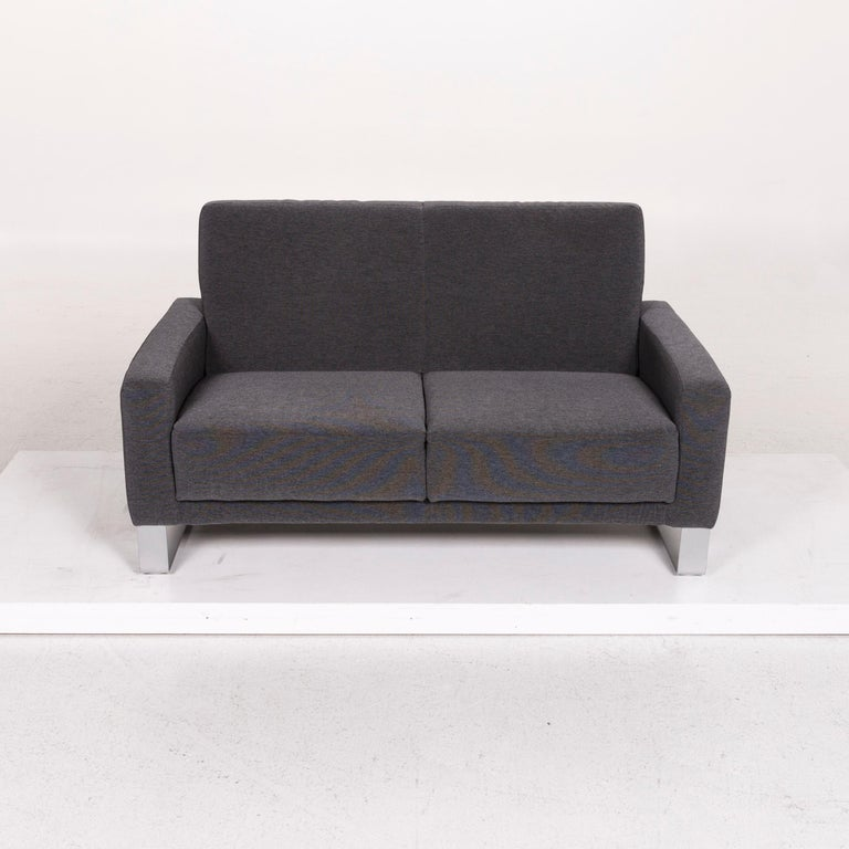 Koinor Nove Fabric Sofa Gray Compact Sofa Two-Seat Couch For Sale 4
