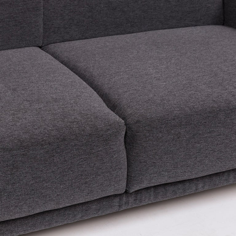 Modern Koinor Nove Fabric Sofa Gray Compact Sofa Two-Seat Couch For Sale