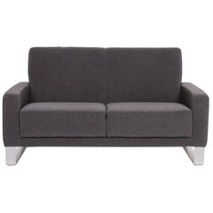 Koinor Nove Fabric Sofa Gray Compact Sofa Two-Seat Couch