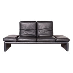 Koinor Raoul Designer Leather Sofa Gray Genuine Leather Two-Seat Couch