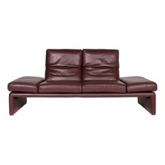 Koinor Raoul Leather Sofa Brown Red Brown Two-Seat Function