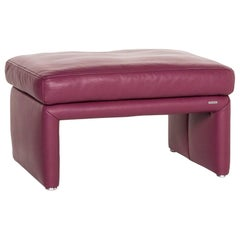Koinor Raoul Leather Stool Purple