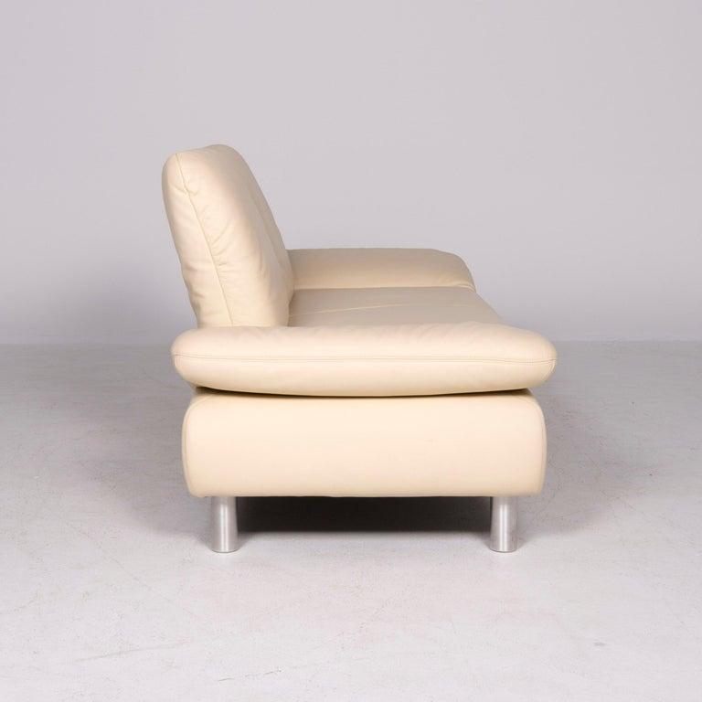 Koinor Rivoli Designer Leather Sofa Beige Genuine Leather Three-Seat Couch For Sale 1