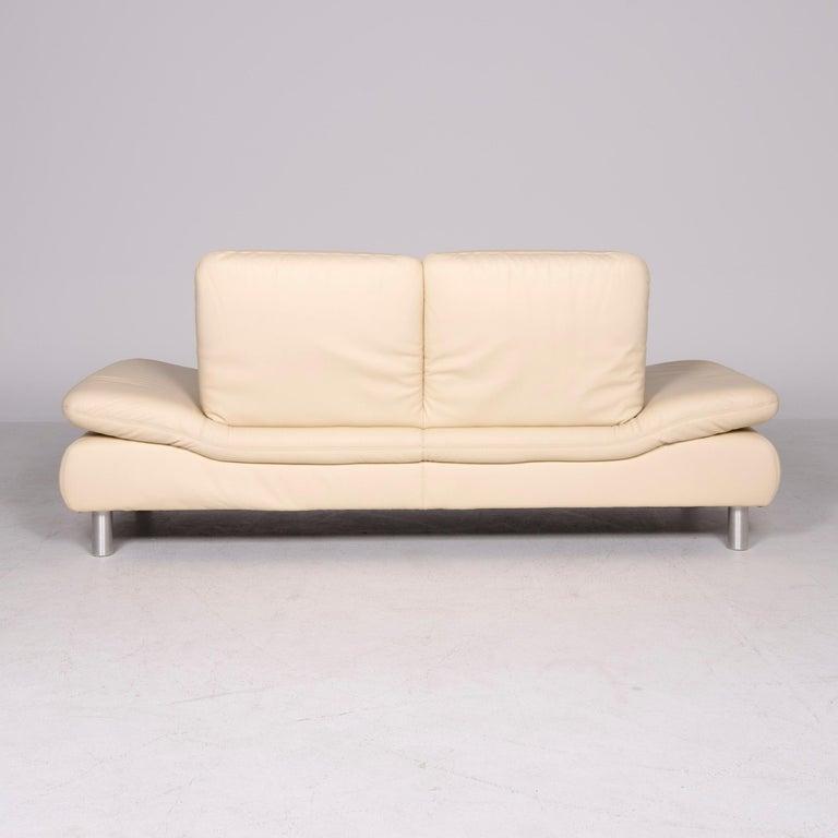 Koinor Rivoli Designer Leather Sofa Beige Genuine Leather Three-Seat Couch For Sale 2
