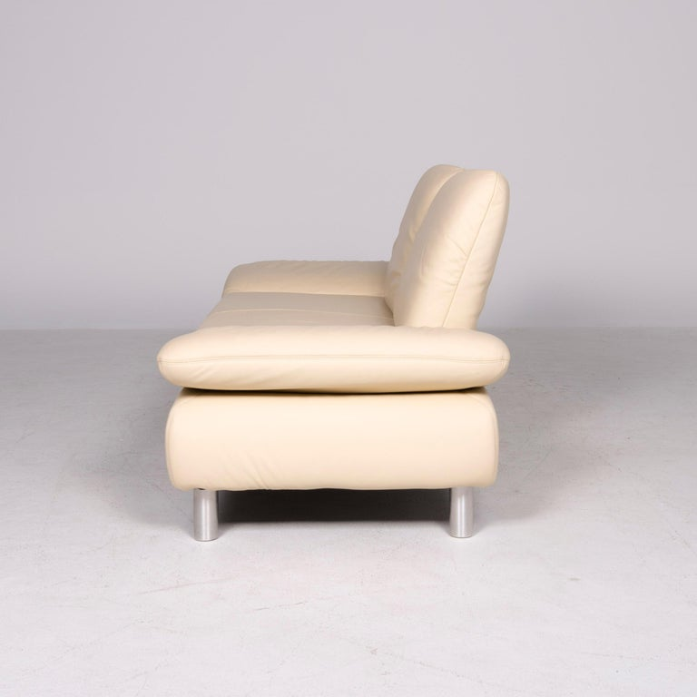 Koinor Rivoli Designer Leather Sofa Beige Genuine Leather Three-Seat Couch For Sale 3