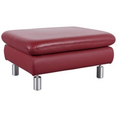 Koinor Rivoli Leather Foot-Stool Red Bench