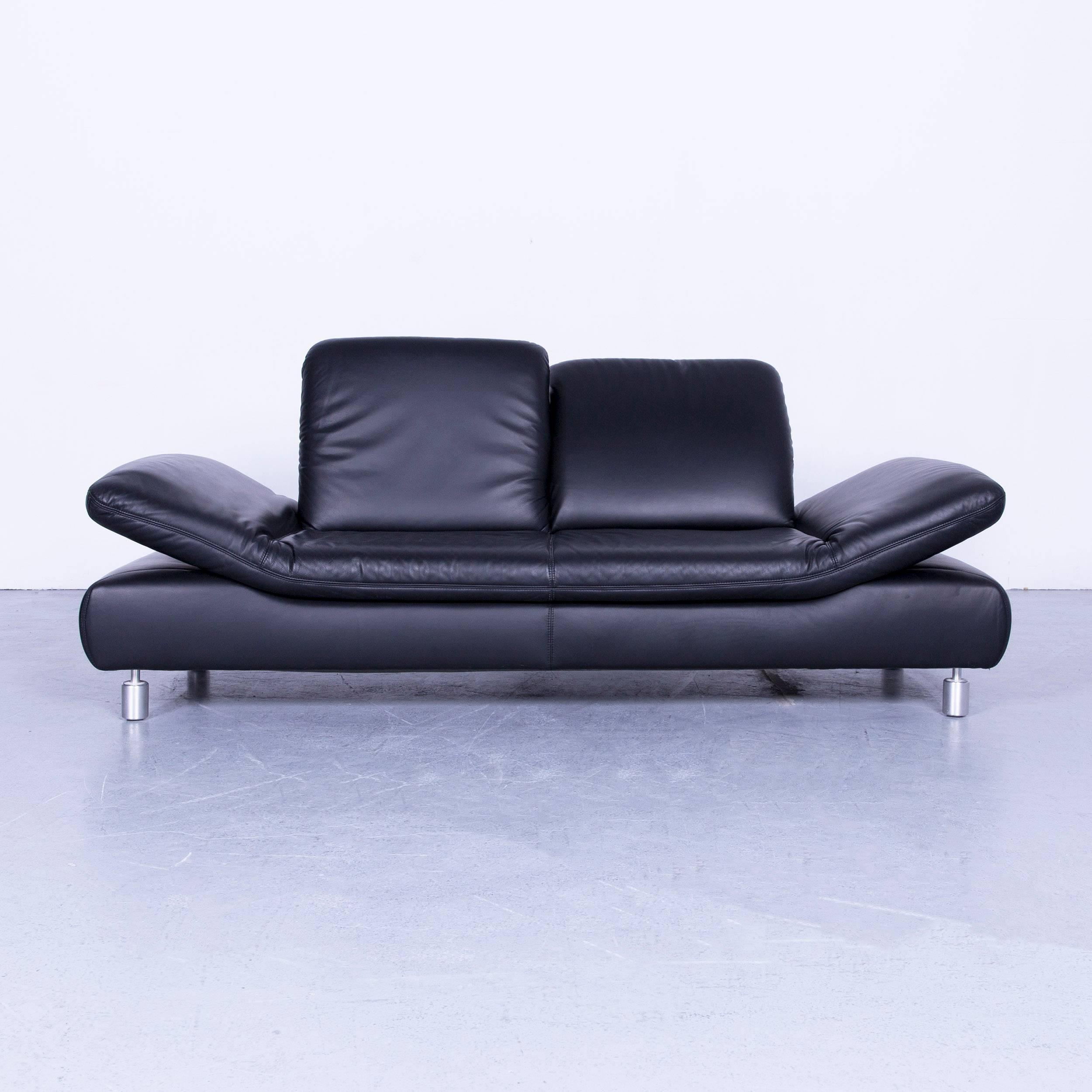 Phenomenal Koinor Rivoli Leather Sofa Set Black Two Seat Couch Pdpeps Interior Chair Design Pdpepsorg