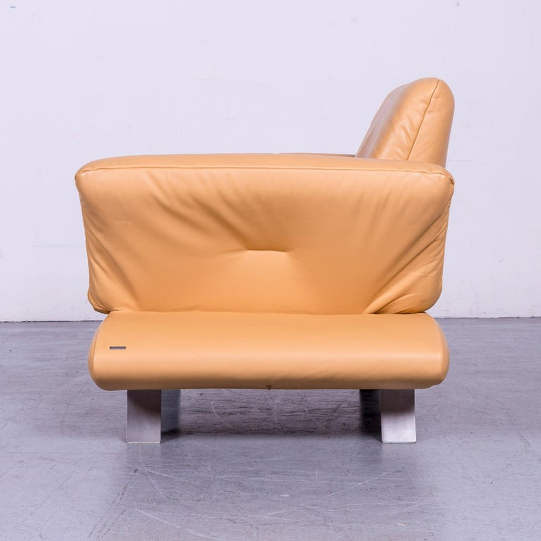 Contemporary Koinor Rossini Designer Leather Armchair Beige One Seat