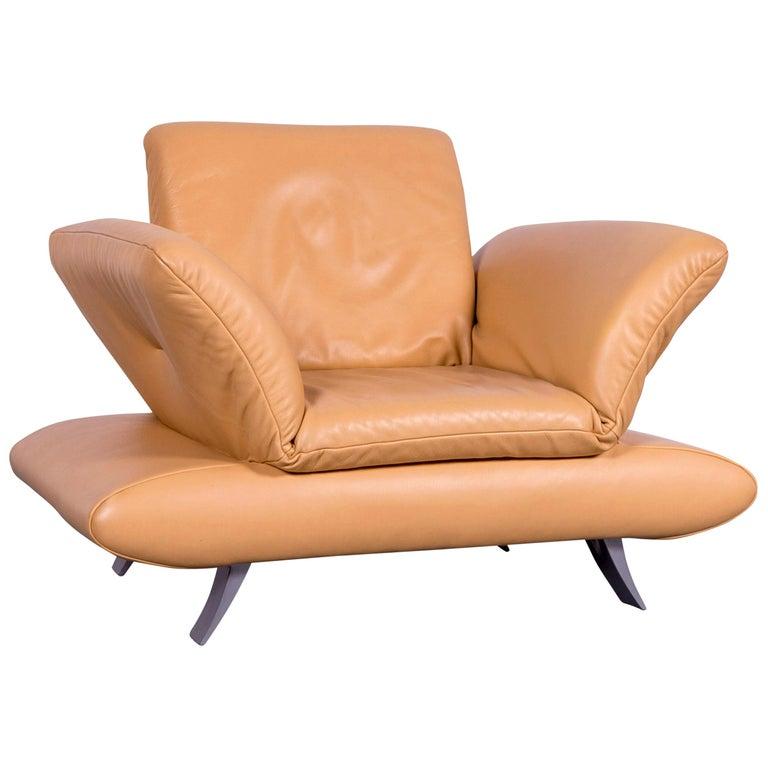 Koinor Rossini Designer Leather Armchair Beige One Seat
