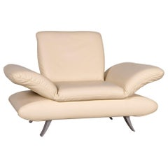 Koinor Rossini Designer Leather Armchair Creme