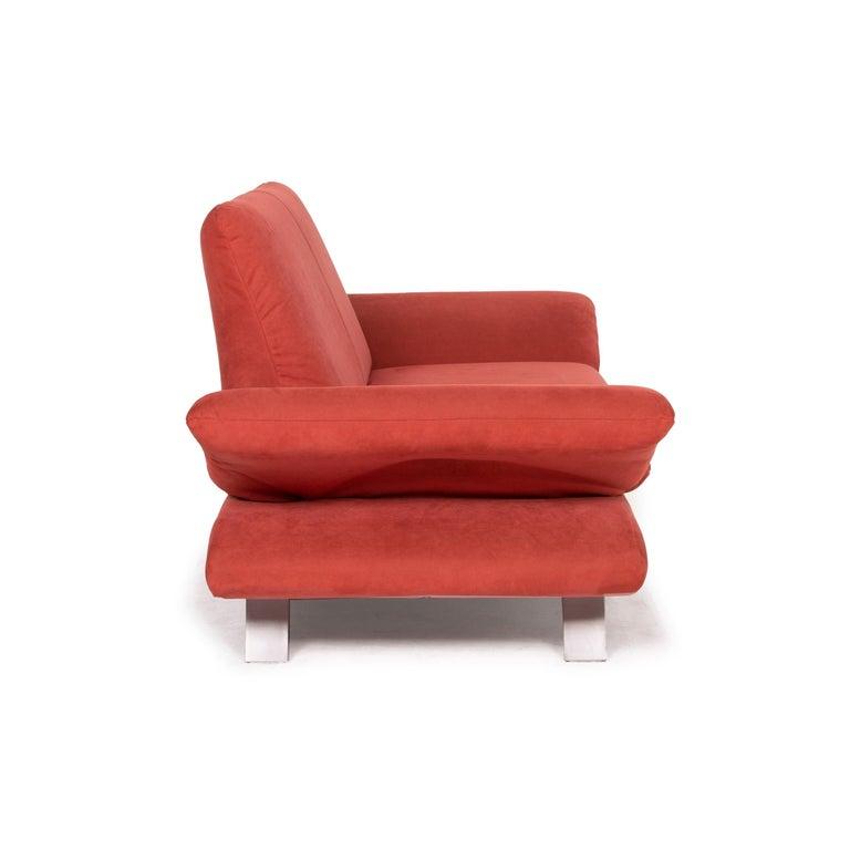Koinor Rossini Fabric Sofa Orange Two-Seater Function For Sale 4