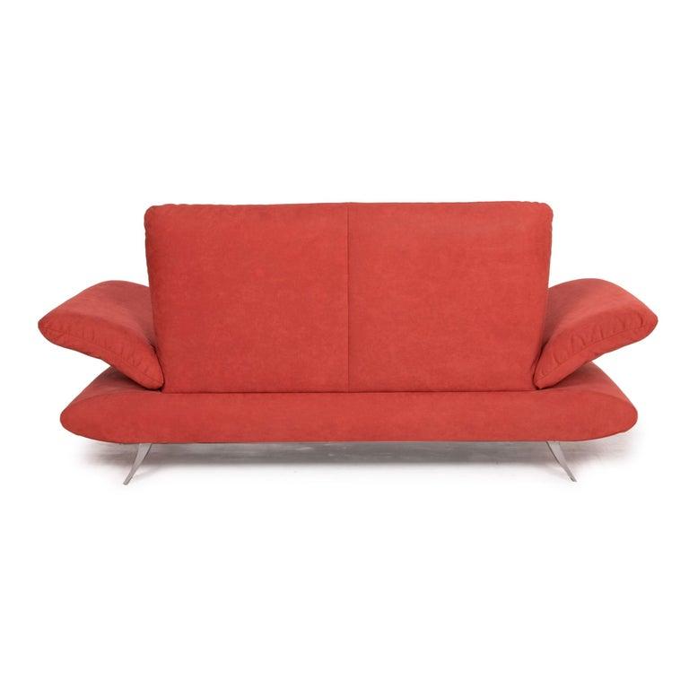 Koinor Rossini Fabric Sofa Orange Two-Seater Function For Sale 5