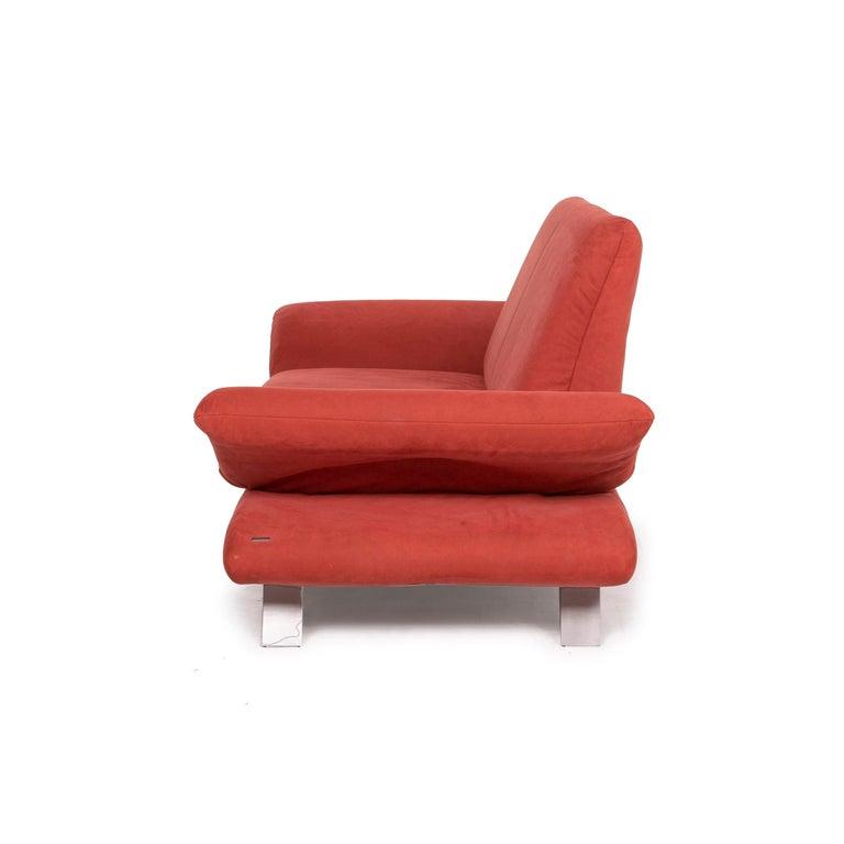 Koinor Rossini Fabric Sofa Orange Two-Seater Function For Sale 6