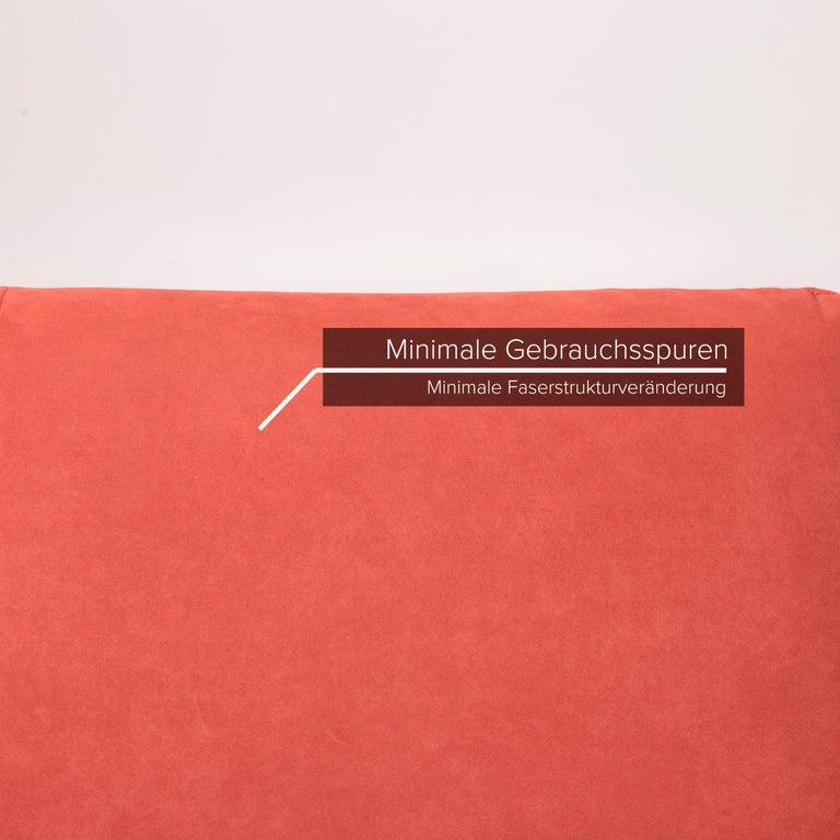 German Koinor Rossini Fabric Sofa Orange Two-Seater Function For Sale